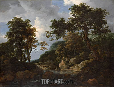The Forest Stream, c.1660 | Ruisdael | Painting Reproduction
