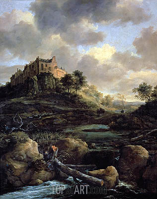 Bentheim Castle, 1653 | Ruisdael | Painting Reproduction