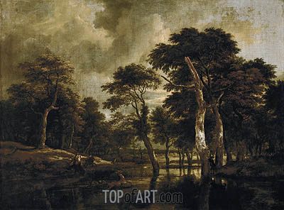 The Hunt, c.1665/70 | Ruisdael | Painting Reproduction