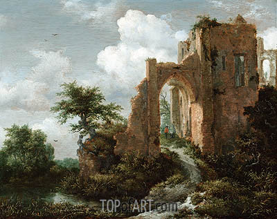 Entrance Gate of the Castle of Brederode, c.1655 | Ruisdael | Gemälde Reproduktion