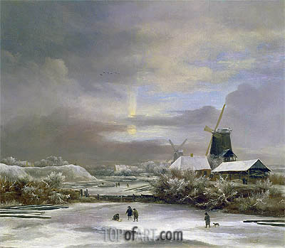 Winter Landscape, undated | Ruisdael | Gemälde Reproduktion