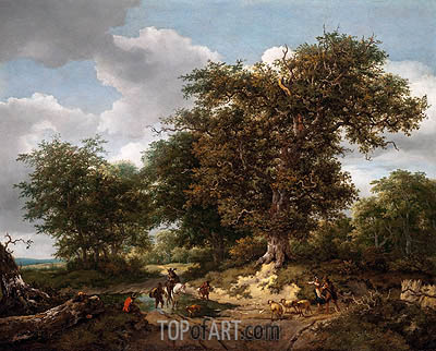 The Great Oak, 1652 | Ruisdael | Painting Reproduction