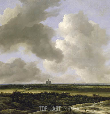 Panoramic View of Haarlem, c.1670 | Ruisdael | Gemälde Reproduktion