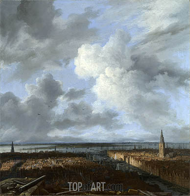 A Panoramic View of Amsterdam looking towards the IJ, c.1665/70 | Ruisdael | Gemälde Reproduktion