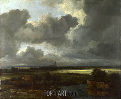 An Extensive Landscape with Ruins, c.1665/75 | Ruisdael | Gemälde Reproduktion