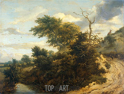 Dirt Road in the Dunes, 1655 | Ruisdael | Painting Reproduction