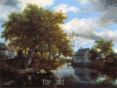 The Great Pool, 1652 | Ruisdael | Gemälde Reproduktion