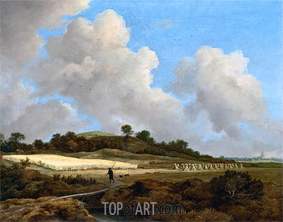 View of Grainfields with a Distant Town, c.1670 | Ruisdael | Gemälde Reproduktion