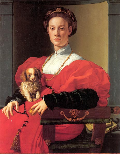 Portrait of a Lady in Red Dress, c.1532/33 | Pontormo | Painting Reproduction