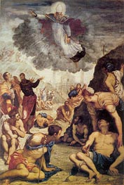 The Miracle of St. Augustine, c.1549 von Tintoretto | Gemälde-Reproduktion