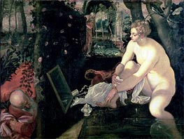 Susanna and the Elders, c.1555/56 von Tintoretto | Gemälde-Reproduktion