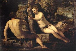 The Temptation of Adam | Tintoretto | Painting Reproduction