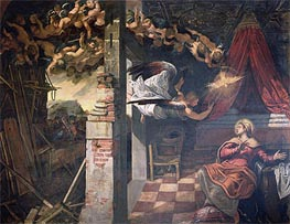 The Annunciation, c.1582/87 by Tintoretto | Painting Reproduction