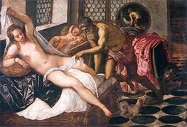 Mars and Venus Surprised by Vulcan | Tintoretto | Gemälde Reproduktion