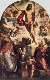 The Resurrection of Christ, 1565 by Tintoretto | Painting Reproduction
