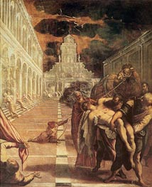 The Removal of the Body of St. Mark, c.1562/66 by Tintoretto | Painting Reproduction