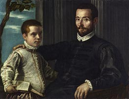 Portrait of a Nobleman with his Son, undated by Tintoretto | Painting Reproduction