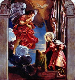 The Annunciation, Undated von Tintoretto | Gemälde-Reproduktion