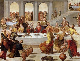 The Wedding Feast at Cana, c.1545 von Tintoretto | Gemälde-Reproduktion