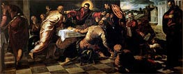 The Supper at Emmaus, Undated von Tintoretto | Gemälde-Reproduktion
