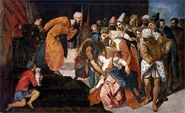 Esther before Ahasuerus, 1548 von Tintoretto | Gemälde-Reproduktion