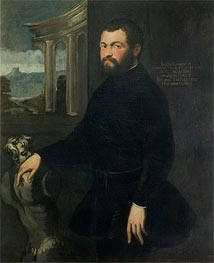 Jacopo Sansovino, Originally Tatti, Sculptor and State Architect in Venice, Undated von Tintoretto | Gemälde-Reproduktion