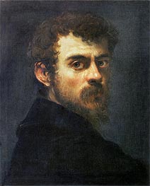Self Portrait, c.1546/48 von Tintoretto | Gemälde-Reproduktion