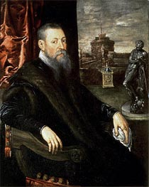 Portrait of an Art Collector, Undated von Tintoretto | Gemälde-Reproduktion