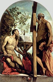 St. Andrew and St. Jerome, Undated von Tintoretto | Gemälde-Reproduktion