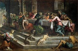 Last Supper, Undated von Tintoretto | Gemälde-Reproduktion