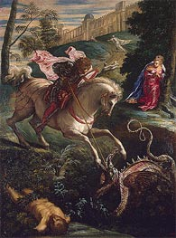 Saint George, c.1543/44 by Tintoretto | Painting Reproduction