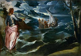 Christ at the Sea of Galilee | Tintoretto | Gemälde Reproduktion