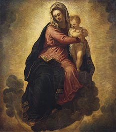 The Virgin and Child, c.1540/45 by Tintoretto | Painting Reproduction