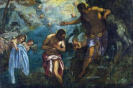 Baptism of Christ | Tintoretto | Painting Reproduction