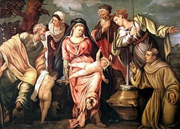 Sacra Conversazione Molin | Tintoretto | Painting Reproduction