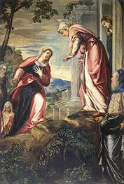 The Visitation (detail) | Tintoretto | Painting Reproduction