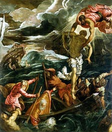 St. Mark Saving a Saracen from Shipwreck | Tintoretto | Gemälde Reproduktion