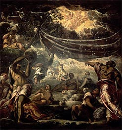The Fall of Manna | Tintoretto | Painting Reproduction