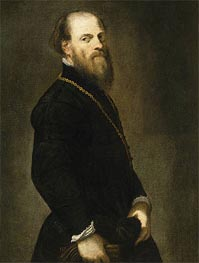 Gentleman with a Gold Chain, c.1555 by Tintoretto | Painting Reproduction