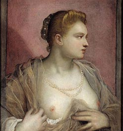 Lady Baring her Breast | Tintoretto | Painting Reproduction