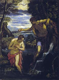 The Baptism of Christ, c.1585 by Tintoretto | Painting Reproduction