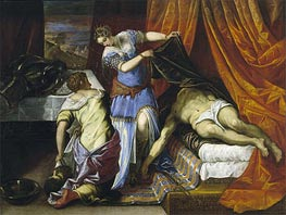 Judith and Holofernes, c.1577 by Tintoretto | Painting Reproduction
