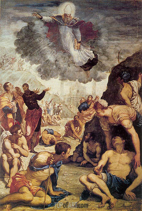 The Miracle of St. Augustine, c.1549 | Tintoretto | Gemälde Reproduktion