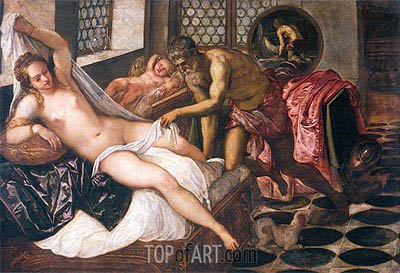 Mars and Venus Surprised by Vulcan, c.1555 | Tintoretto | Gemälde Reproduktion