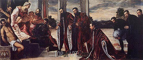 Madonna of the Treasurers, c.1567 | Tintoretto | Painting Reproduction