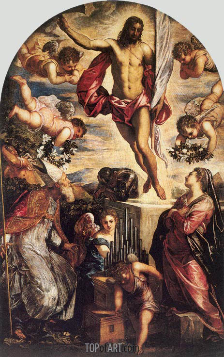 The Resurrection of Christ, 1565 | Tintoretto | Gemälde Reproduktion