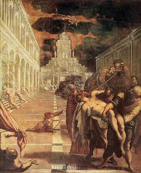 The Removal of the Body of St. Mark, c.1562/66 | Tintoretto | Gemälde Reproduktion