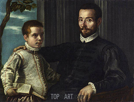 Portrait of a Nobleman with his Son, undated | Tintoretto | Painting Reproduction