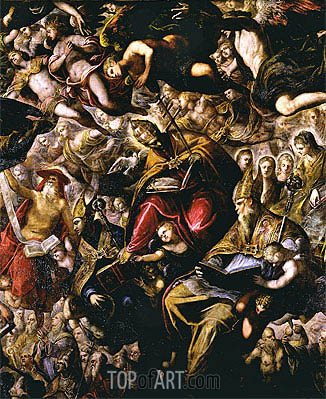 Paradise (detail), Undated | Tintoretto | Painting Reproduction