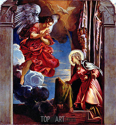 The Annunciation, Undated | Tintoretto | Painting Reproduction